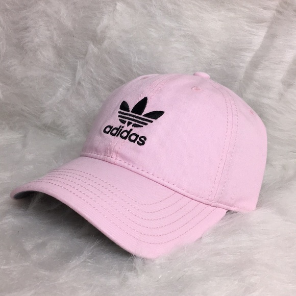 d2d47c547ff Adidas Originals trefoil pink logo dad hat